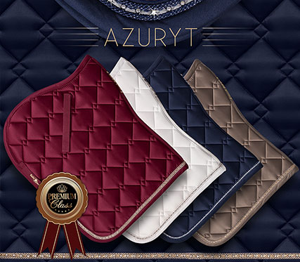 Azuryt saddle pad