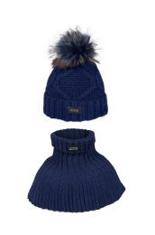 Fair Play beanie and scarf set Aran W18