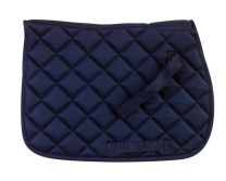 Riding World Navy Blue Quilted cotton saddle cloth, shetland size