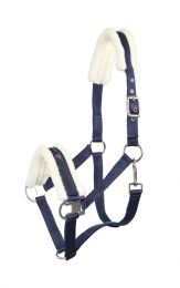 Pfiff blue halter padded with synthetic fur