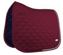 Fair Play Hexagon Crystal saddle pad Burgundy