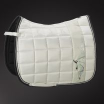 Eskadron Platinum SS'18 Big Square Glossy saddle pad Silk Grey