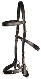 Leather lunging bridle / Cavesson