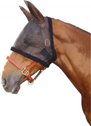 Harry's Horse full mesh fly mask with ears Black
