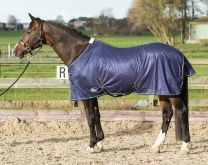 Harry's Horse Flysheet standard mesh with surcingles, navy