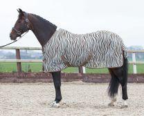 Harry's Horse Flysheet standard mesh with surcingles, zebra plume