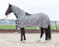 Harry's Horse Flysheet mesh with neck and saddle cutout, zebra