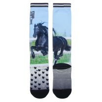 Stapp Horse Socks Black Horse Friesian Print