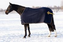 QHP woolen horse blanket with decorative cord