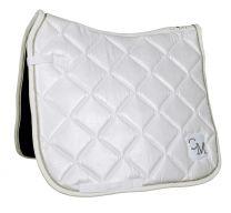 Cavallino Marino soft powder quilt saddle pad white