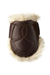 Kentucky sheepskin leather fetlock boots velcro