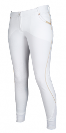 Lauria Garrelli limited edition Queens breeches with silicone knee patches white