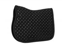 Equestrian Stockholm Jumping Saddle Pad All In Leather Black