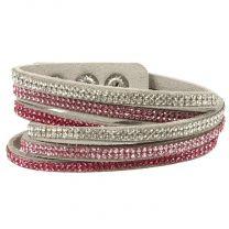 USG crystal bracelet pink