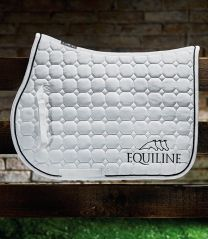 Equiline Octagon logo outline saddle pad