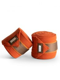 Equestrian Stockholm fleece bandages Brick Orange FW'19