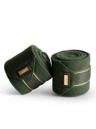 Equestrian Stockholm fleece bandages Forest Green FW'19