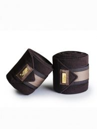 Equestrian Stockholm golden brown fleece bandages
