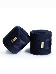 Equestrian Stockholm Classic Navy Gold fleece bandages