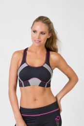 Q-linn Barcelona sports bra anthracite