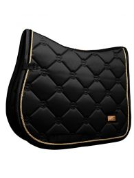 Equestrian Stockholm jumping saddlepad Black Edition Gold FW'19