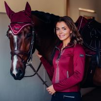 Equestrian Stockholm Fleece jacket Bordeaux FW'19