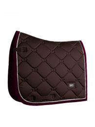 Equestrian Stockholm dressage saddle pad Deep Brown Bordeaux