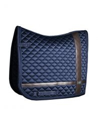 Equestrian Stockholm Dressage saddle pad Leather Deluxe Silver