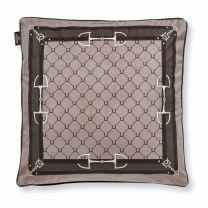 Adamsbro Equi velvet cushion camel