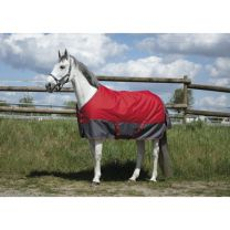 EQUI-THÈME Tyrex 1200D Turnout rug Marine Red/Grey