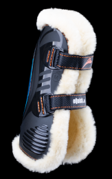 eQuick eShock tendon boots Fluffy velcro Front