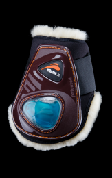 eQuick eShock Fetlock boots Velcro Fluffy