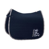 Eskadron Ride Eat Sleep Repeat SS'19 Cotton saddle pad Navy