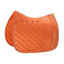 Eskadron Platinum SS'19 saddle pad Glossy Stripe Vermillion-Orange