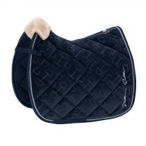 Eskadron Platinum SS'19 saddle pad Velvet Stamp Navy