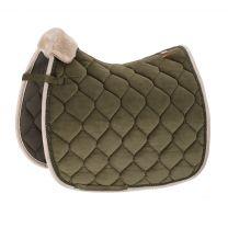 Eskadron Platinum SS'19 saddle pad  Velvet Crystal Martini-Olive
