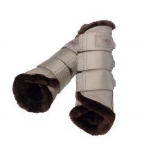 Eskadron FW'20 Platinum softslate fauxfur tendon boots