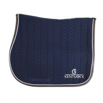 Kentucky Jumping Saddle Pad Fishbone Leather