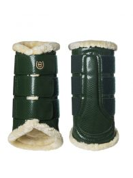 Equestrian Stockholm brushing boots hind Forest Green FW'19