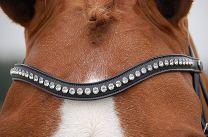 Dyon Swarovski browband white