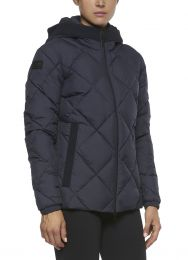Cavalleria Toscana FW'20 Quilted Nylon Hooded Puffer Fleece Ladies Jacket