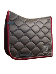 Equestrian Stockholm SS'20 dressage saddlepad Grey Bordeaux