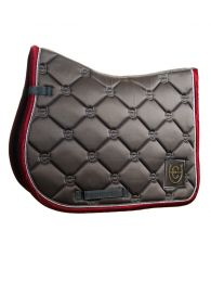 Equestrian Stockholm SS'20 jumping saddlepad Grey Bordeaux