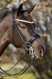 Premiera ''Prades'' Black double bridle with crystal browband