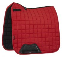 LeMieux Essential Suede Dressage saddlepad Coral Red