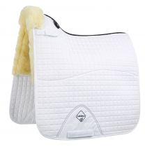 LeMieux dressage square half lined saddle pad white