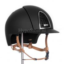 KEP Cromo T Black with cognac chinstrap