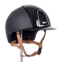 KEP Cromo T Polish Black with cognac chinstrap