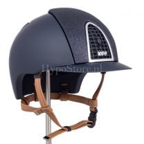 KEP Cromo T Star Glitter Blue with cognac chinstrap