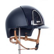 KEP Cromo T Polish Blue with cognac chinstrap